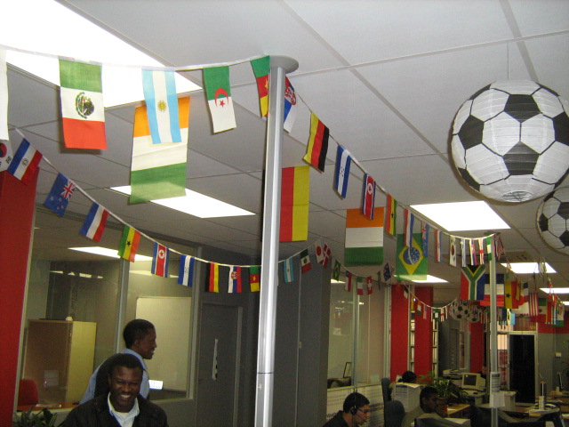 Party hall decorations for FIFA World Cup theme party